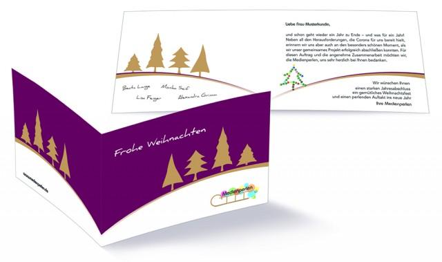 Individuelle Weihnachtskarten von den Medienperlen